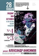 К 250-летию со дня рождения Л. ван Бетховена: Государственный академический симфонический оркестр Республики Беларусь, дирижёр – Александр Анисимов