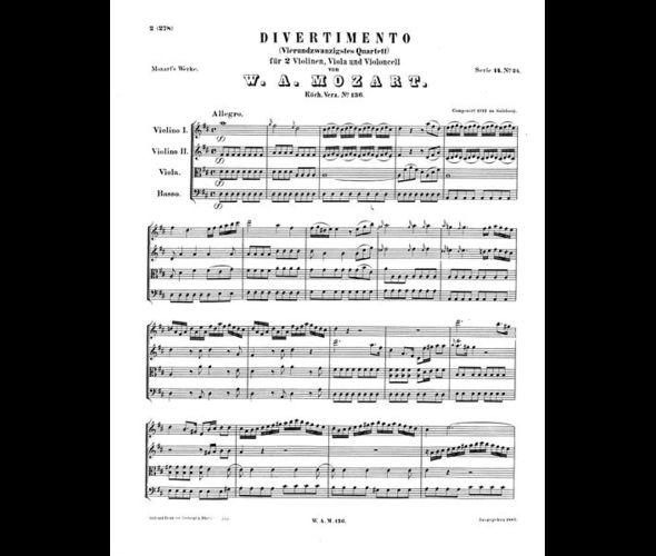Моцарт В. Дивертисмент, KV 136
